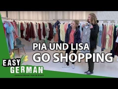 Pia and Lisa go shopping | Easy German 85