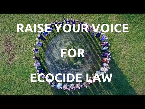 Raise Your Voice music video to support Ecocide Law