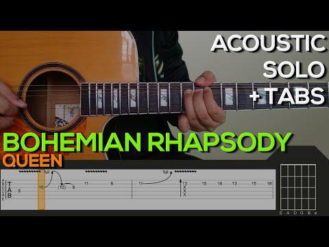Queen - Bohemian Rhapsody Guitar Tutorial [SOLO + TABS]