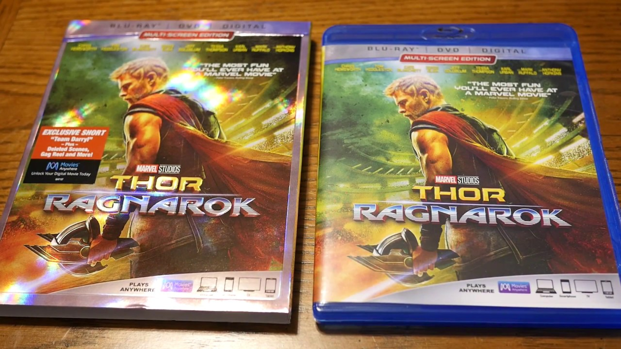 Unboxing Thor Ragnarok Blu Ray Dvd Digital Hd Edition With Slipcover Youtube