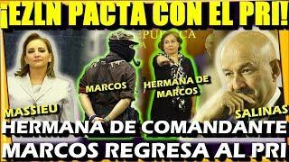 URGENTE ¡ EZLN PACTA CON SALINAS Y MASSIEU ! HERMANA DE MARCOS REGRESA AL PRI - ESTADISTICA POLITICA