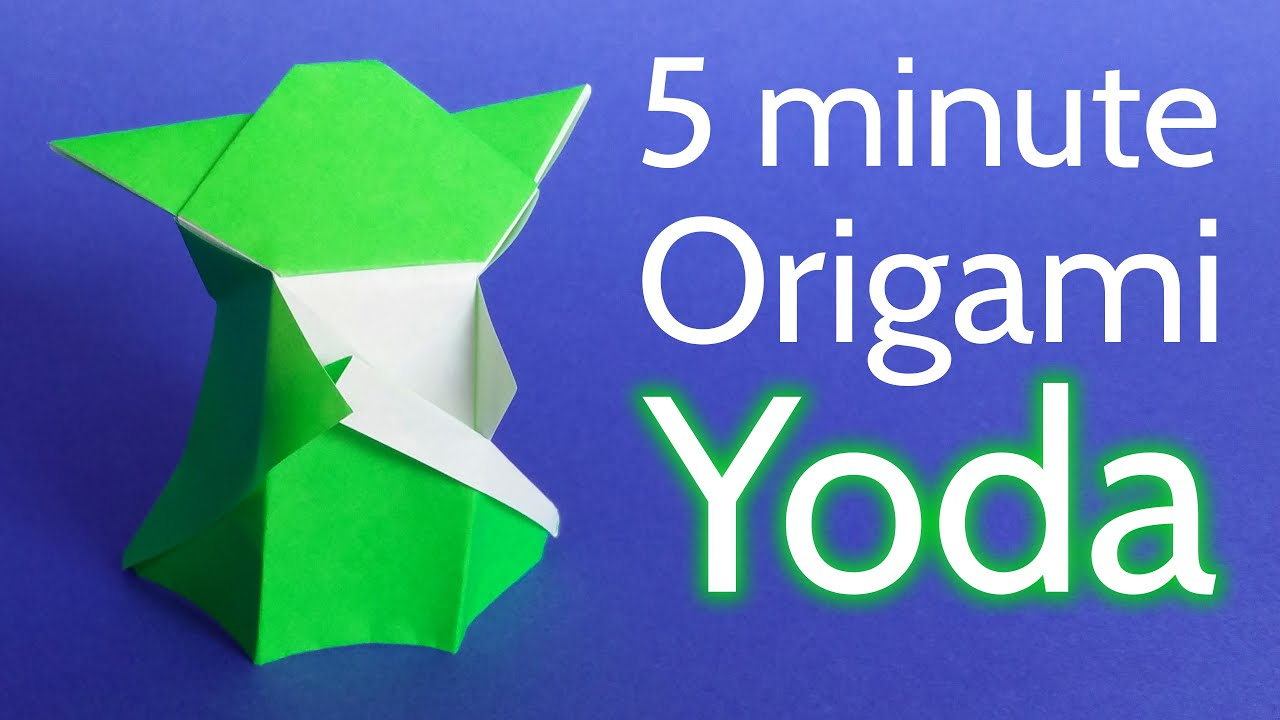 How to make an Origami Yoda from Star Wars in 5 minutes ... - photo#12