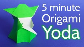 How to make an Origami Yoda from Star Wars in 5 minutes - Tutorial (Stéphane Gigandet)