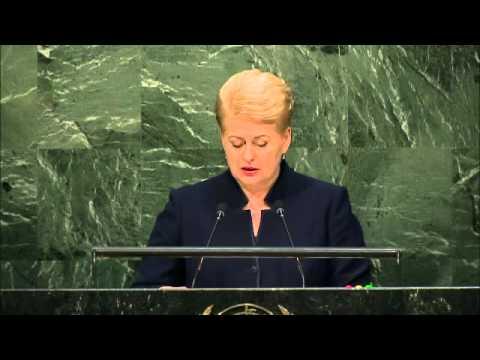 Dalia Grybauskaité /Lithuania/ UN General Assembly 29 September 2015 (English)