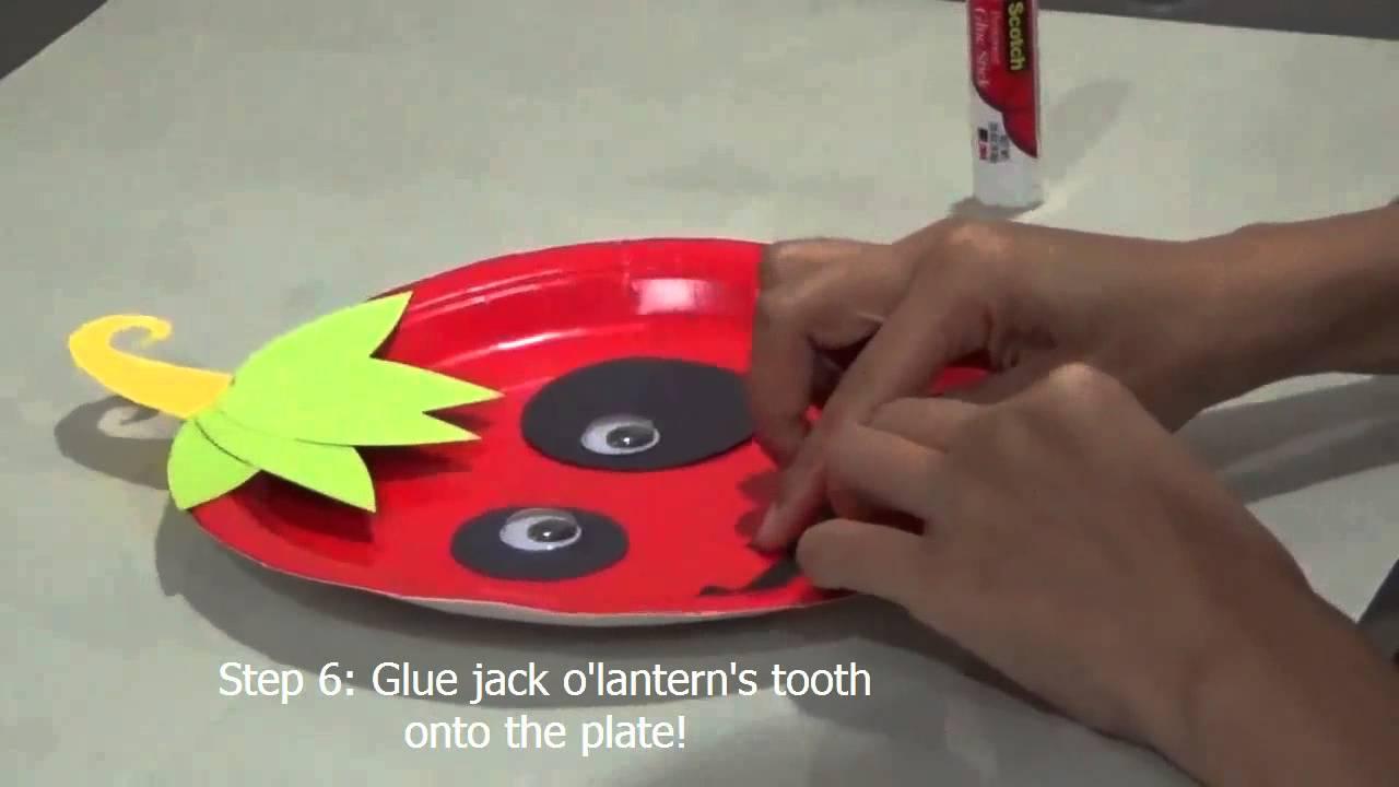 Paper Plate Craft -- Halloween Edition -- Jack O'lantern