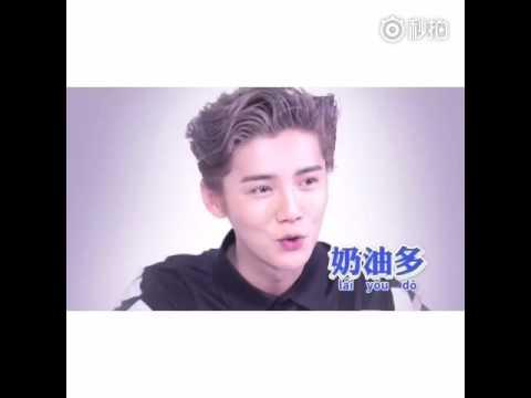 160416 - Luhan- VougueMe : Luhan studies Guangzhou Language
