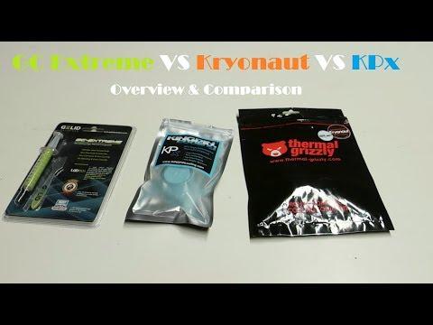 High-end Thermal Paste Comparison - GC-Extreme VS Kryonaut VS KPx