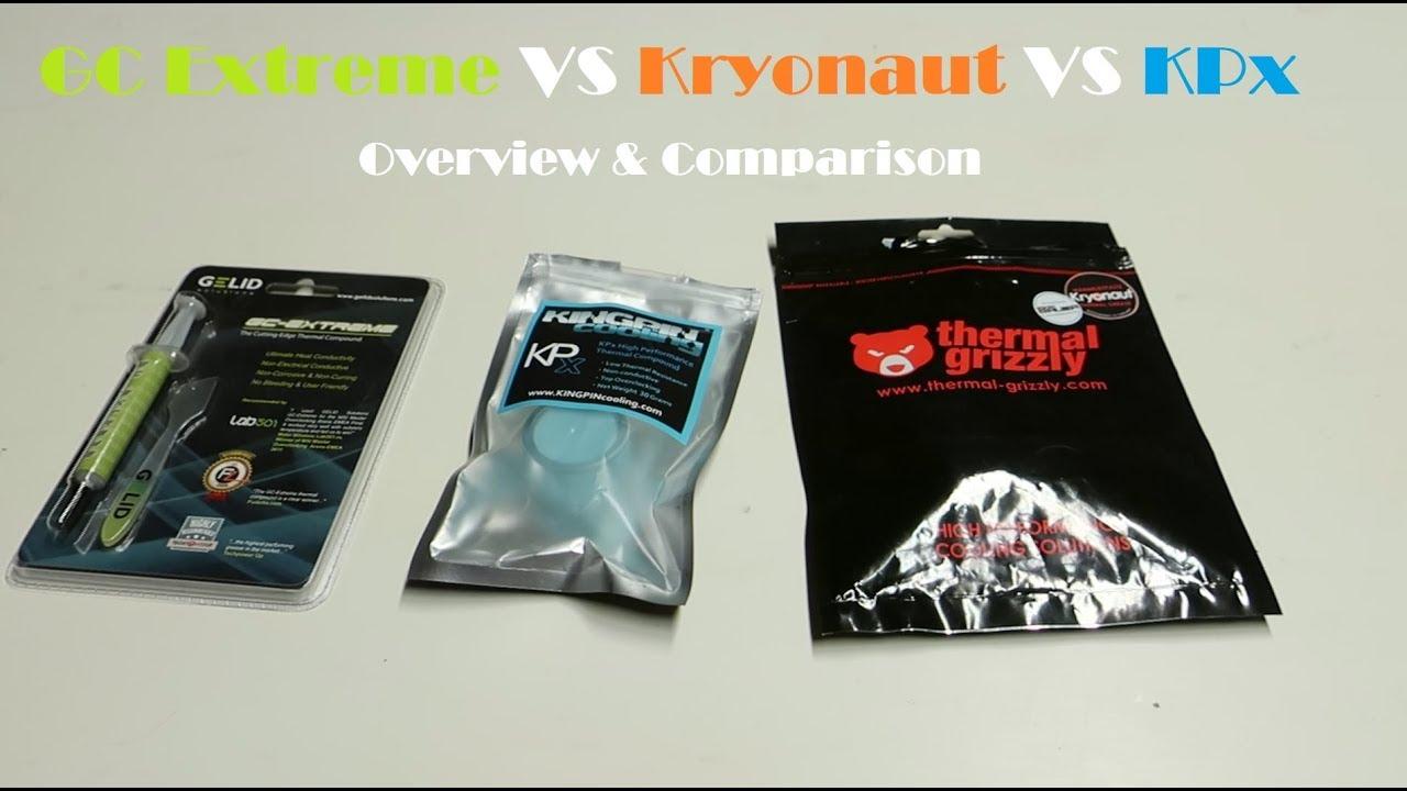 High-end thermal paste comparison – GC-Extreme VS Kryonaut VS KPx