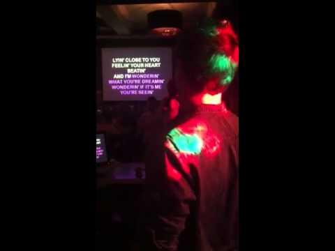 Terry shredding it at karaoke