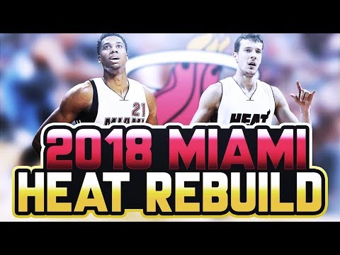 LONZO BALL IN SOUTH BEACH!? 2018 HEAT REBUILD! NBA 2K17