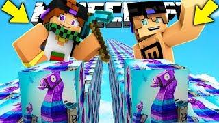 CORSA CON I LUCKY BLOCK DI FORTNITE! - Minecraft ITA