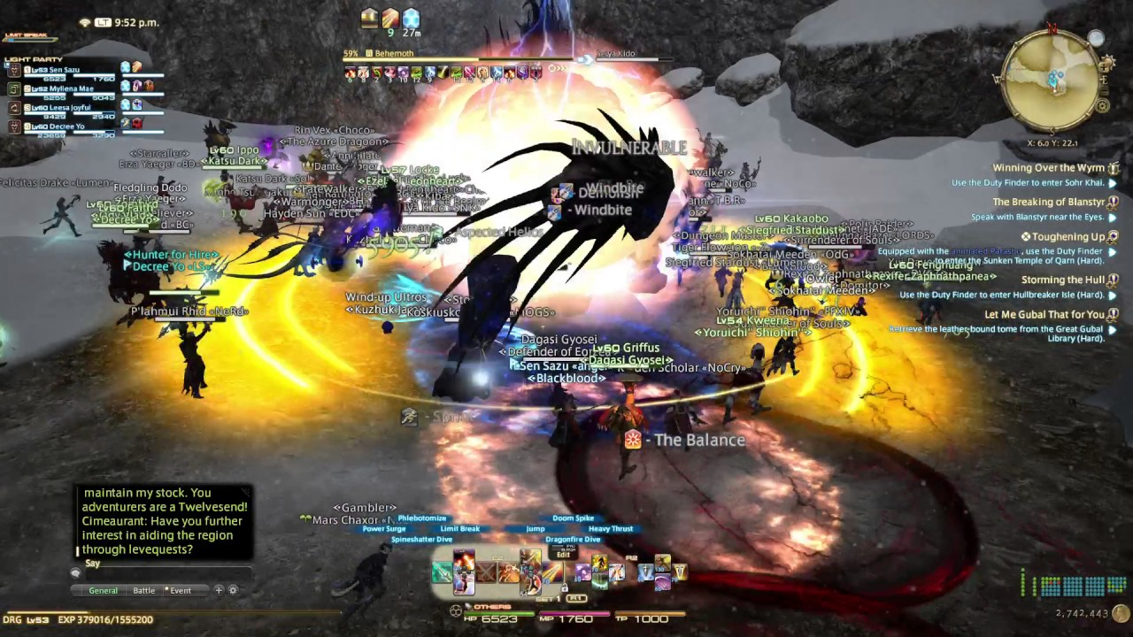 FFXIV PS4 Pro Boost Mode stress test   Behemoth Fate