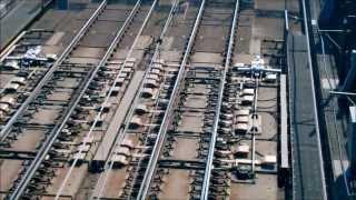 上越新幹線 ポイント切り替えの瞬間 本庄早稲田駅 Railroad switch of the Shinkansen Superexpress thumbnail