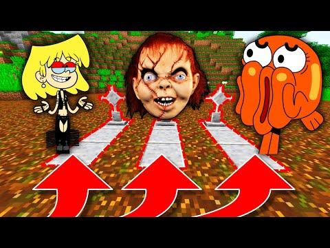 NE CHOISISSEZ PAS LA MAUVAISE TOMBE MINECRAFT !! Lori Loud Chucky Darwin !