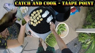 Big Island Catch and Cook - Shore Fishing For Ta'ape (Invasive Snapper)