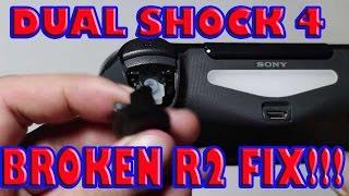 DUAL SHOCK 4 R2 BUTTON REPLACEMENT! BROKEN CONTROLLER FIX!