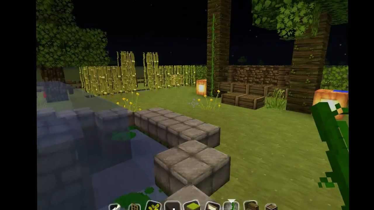 tuto 3 r aliser un beau jardin dans minecraft youtube