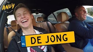 Frenkie de Jong - Bij Andy in de auto