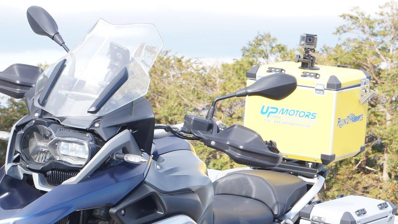 パニアケースラッピング:Motorcycle top case vinyl wrapping decal BMW R1200GS