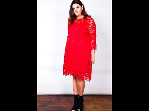 Fashion Book Wholesale   Lace Swing Dress With Slip Cami   Plus Size