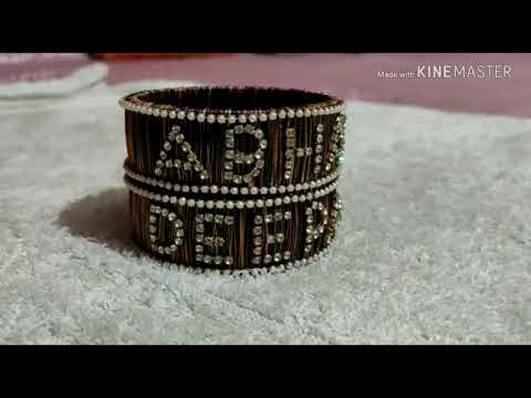 Silk thread bangles with any name || amazing art online shopping