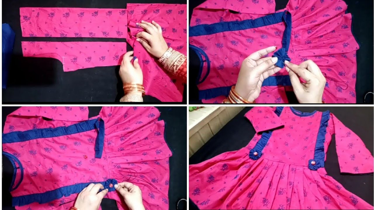Download latest frock desighn || Cutting and stitching tutorial|| long peti style frock