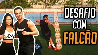 RAQUEL FREESTYLE X FALCÃO!! (Rei do Futsal contra Rainha das Embaixadinhas)