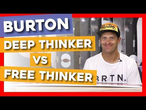 2020 Burton Deep Thinker Vs Free Thinker Snowboards