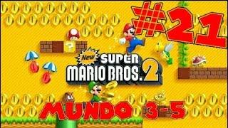 Guia de New Super Mario Bros 2 [100%] Parte 21 | Mundo 3-5