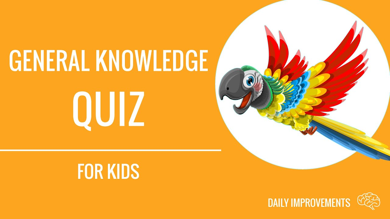 33 Trivia Questions For Kids General Knowledge Quiz Youtube