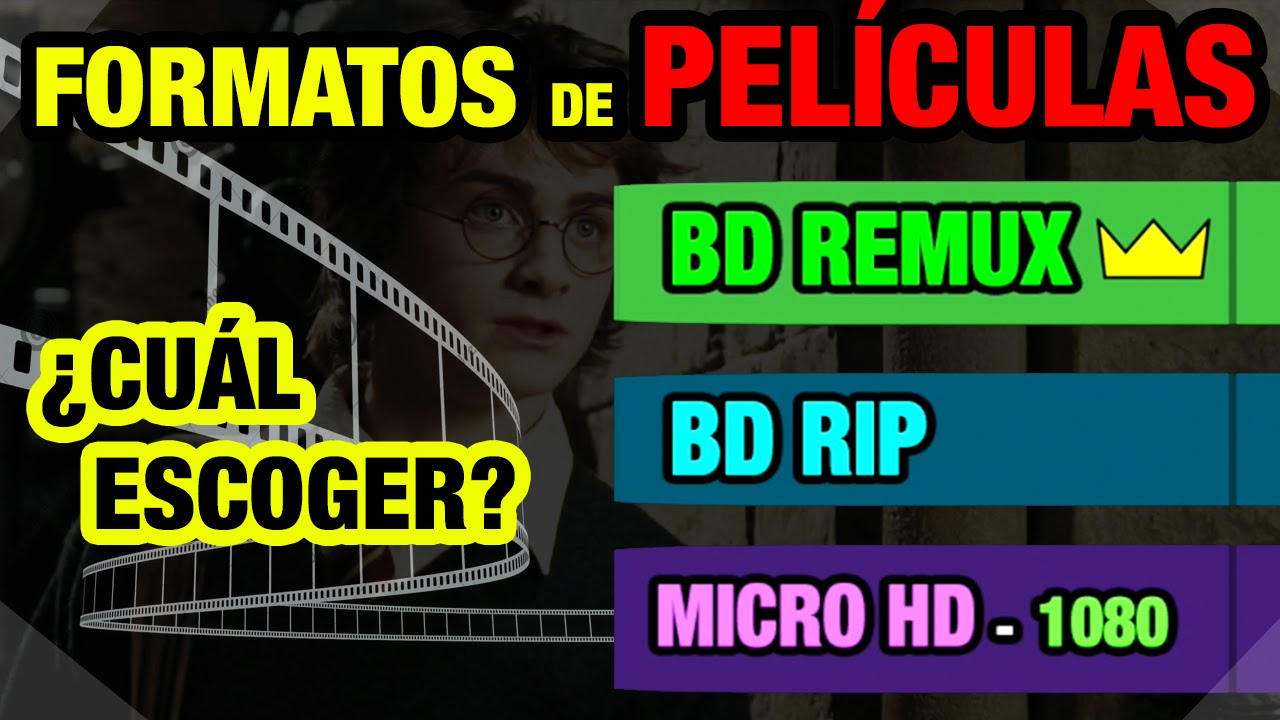 VIDEO | Formatos BDREMUX - BDRIP - MICROHD - HDRIP