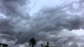 Storm Clouds Fill the Sky Over Cocoa Beach Florida