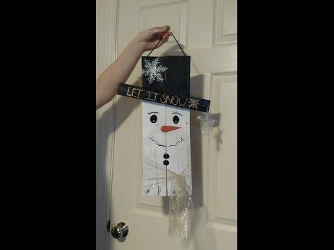 How to make a pallet snowman, Alaska Edition