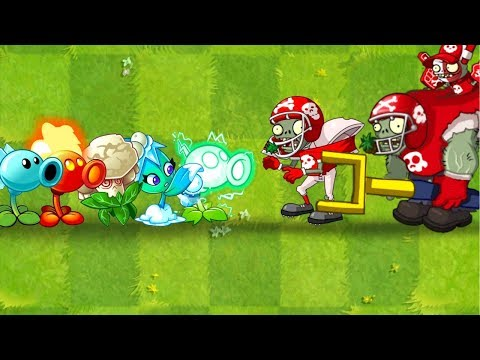 Plants vs Zombies 2 All Star Zombie vs All Plants Power UP - How to Defeat Football Zombie ?