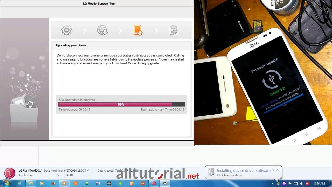 Firmware dan Cara Flash LG L70 D325
