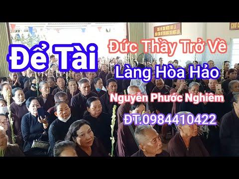 PGHH-Đề Tài-Ngày Thầy Trở Về-Tu Sĩ.Nguyễn Phước Nghiêm