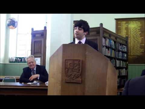 LRGS Whewell Society Debate ft. Eric Ollerenshaw MP for Lancaster and Fleetwood