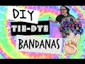 DIY Tie-Dye Bandana's | How-to | Kayla Rose