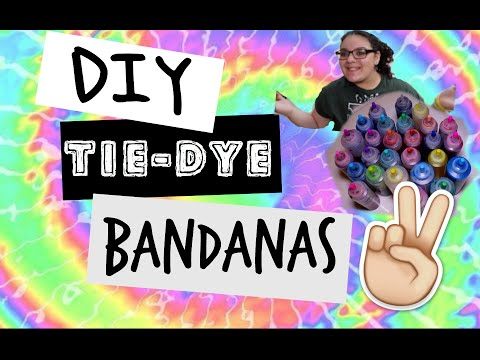 DIY Tie-Dye Bandana's | How-to | Kayla Rose