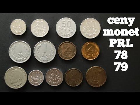 Cena monet PRL lata 78-79, monety obiegowe, numizmatyczny katalog.