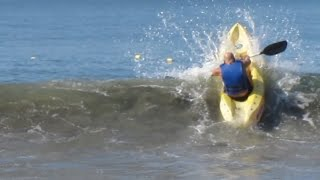 Kayak launch fail, funny video, peolpe are awesome, crazy people HD(Look this Professional rookie try to launch with his kayak in pacific ocean, Puerto Vallarta, Mexico. epic fail, funny fail.If you like my video please, like, share and ..., 2015-04-03T02:30:39.000Z)