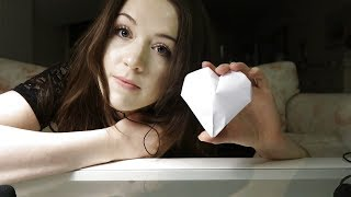 ASMR Origami - Soft spoken, paper crinkling and more