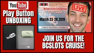 🔴LIVE ▶️100K YouTube Play Button UNBOXING ✦ 🛳 BCSlots Cruise + RUDIES FUN - LIVE CHAT