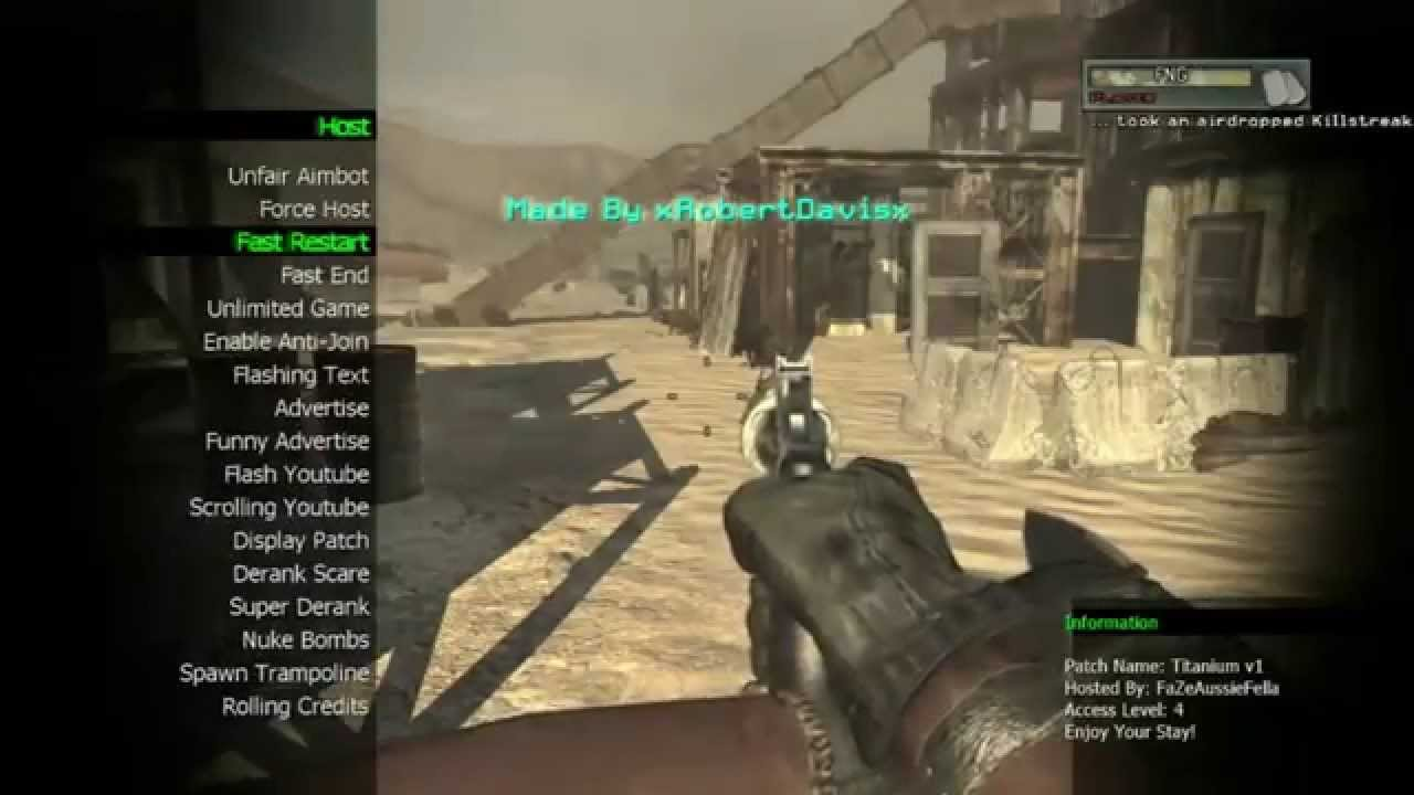 how to get mod menu mw2 ps3