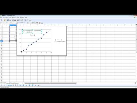 How To Plot A Best Fit Line In OpenOffice Calc
