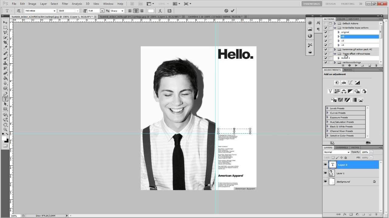 american apparel hello meet template for letter