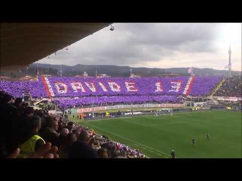 Fiorentina - Benevento: la coreografia della curva Fiesole per Davide Astori
