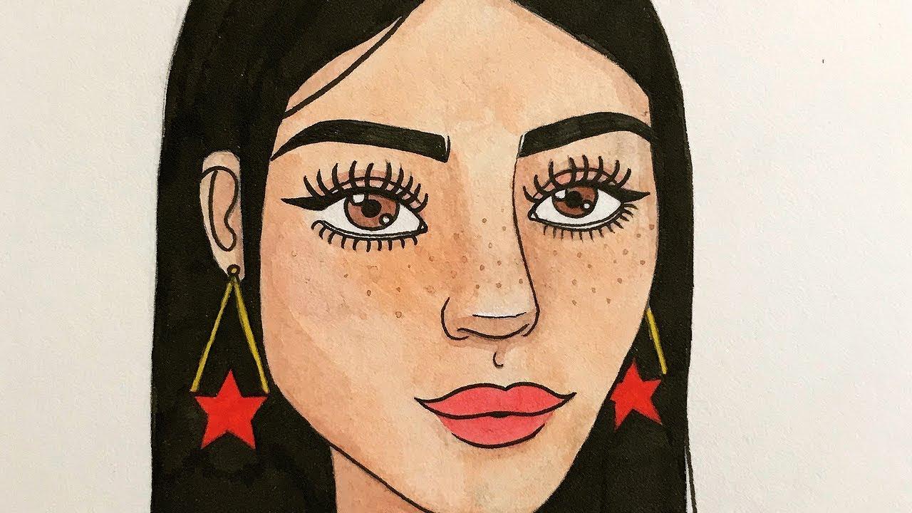 Rostos Desenhos: DESENHA E FALA (desenho Com Sardas!)