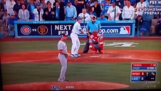 MLB NLDS GAME4 WSH×LAD Chase Utley game winning hit ナショナルリーグ ディビジョンシリーズ第4戦 ドジャース チェイスアトリー 決勝打