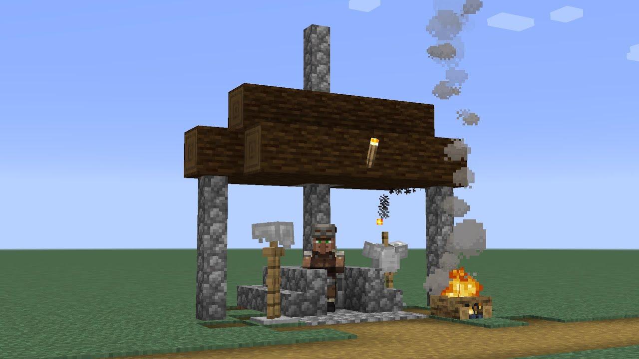 How to build a Minecraft Village Armorer 9 (9.94 taiga)